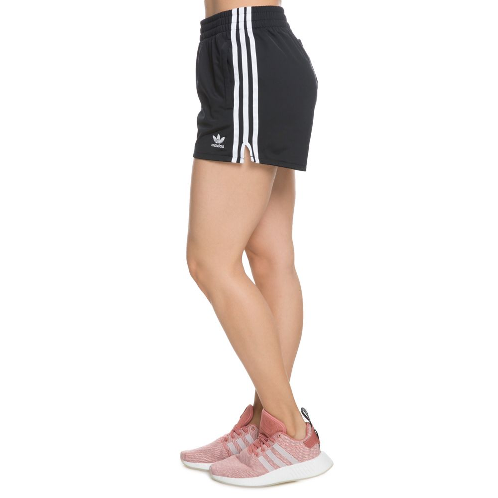 WOMEN'S ADIDAS 3 STRIPE SHORTS BLACK