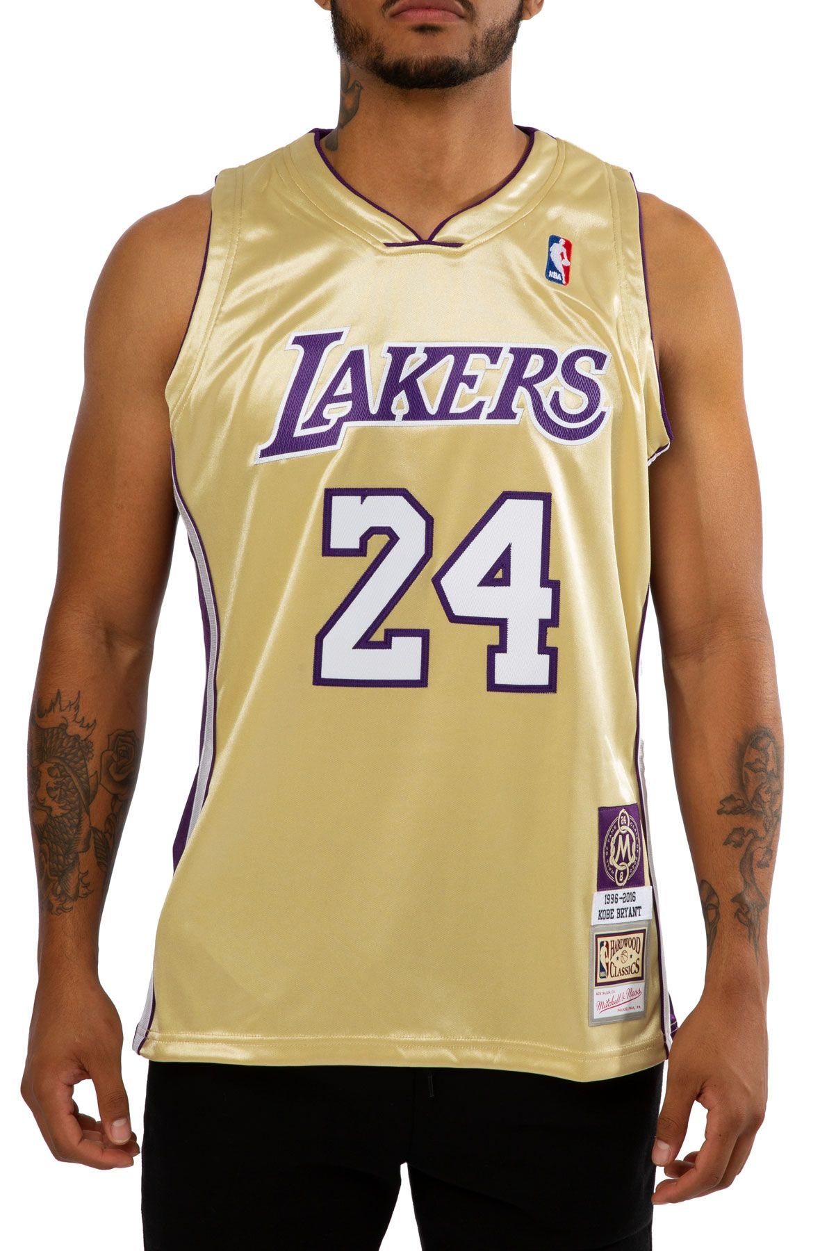 LOS ANGELES LAKERS KOBE BRYANT HALL OF FAME AUTHENTIC JERSEY