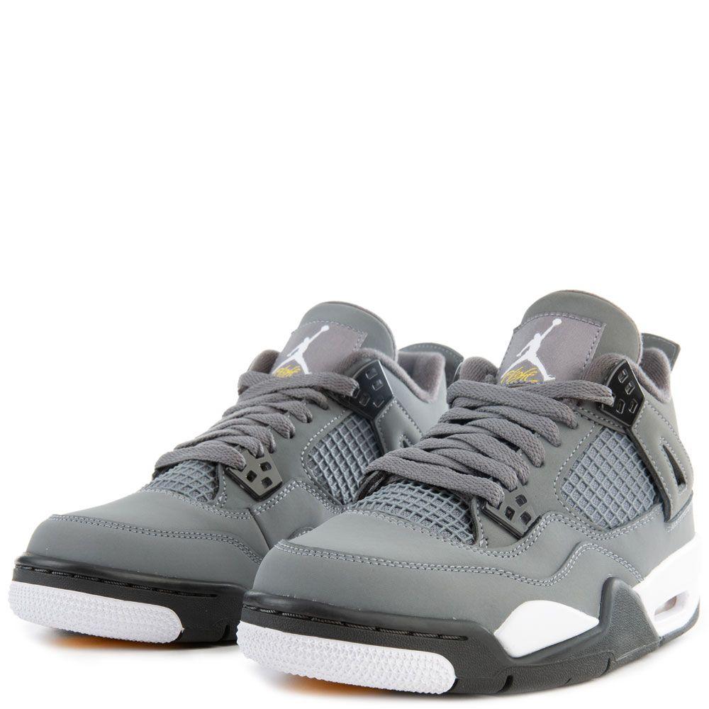 outlet store f63ea 359fb (GS) Air Jordan 4 Retro Cool Grey/Chrome-Dark Charcoal