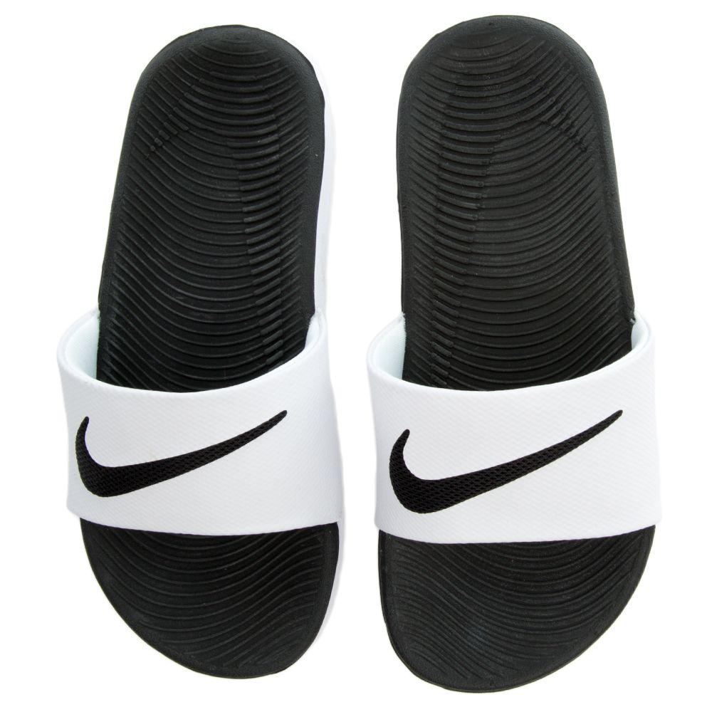 new products c4982 c151c BOYS NIKE KAWA SLIDE (GS/PS) White/Black