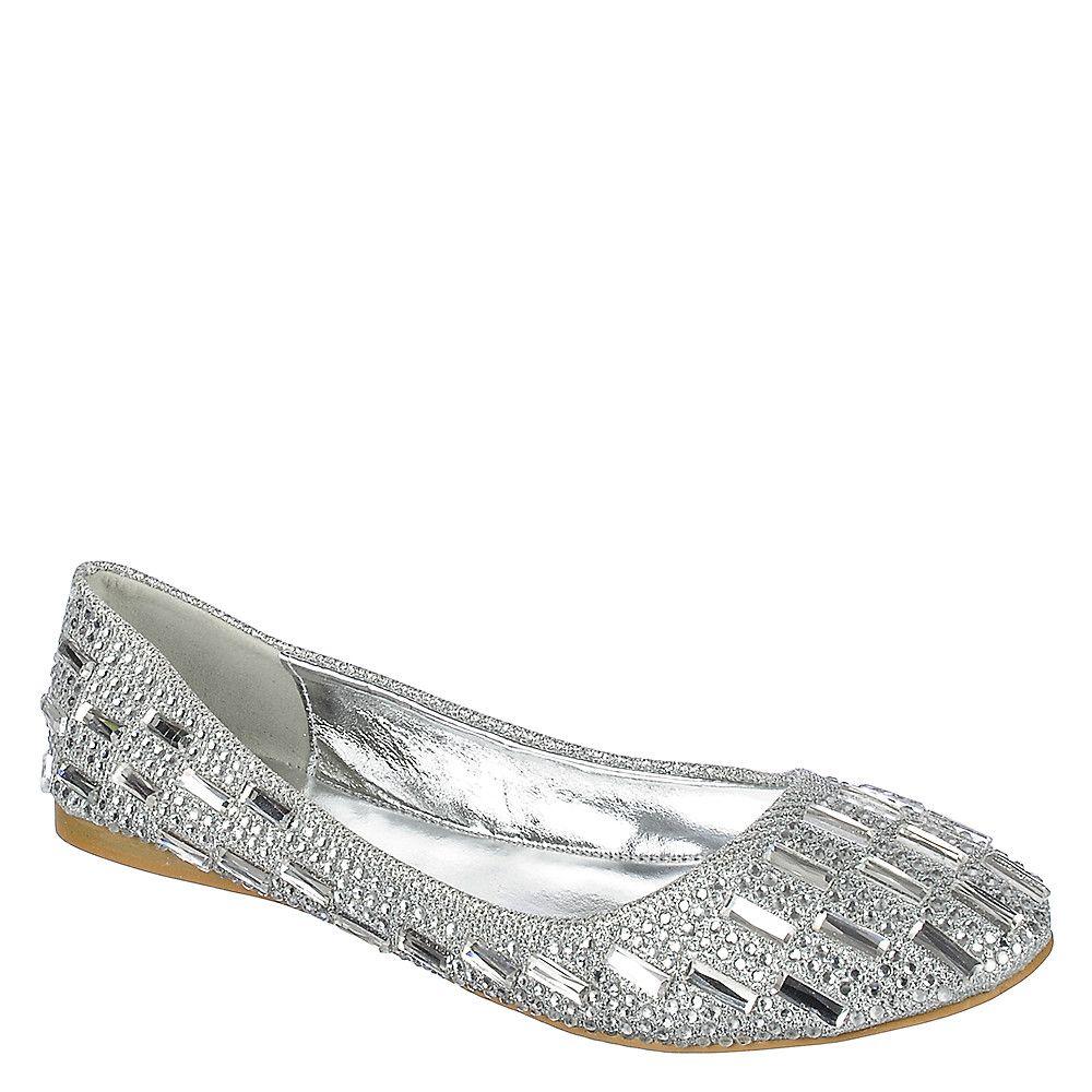 Julie-04 Flat Sequin Dress Shoes Silver