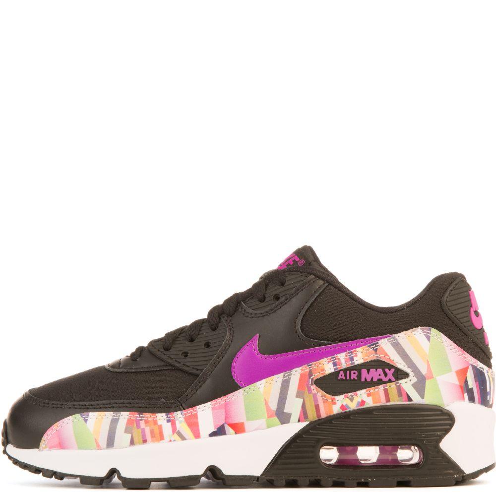Kid's nike air max 90 print mesh gs sneaker multicolor,nike