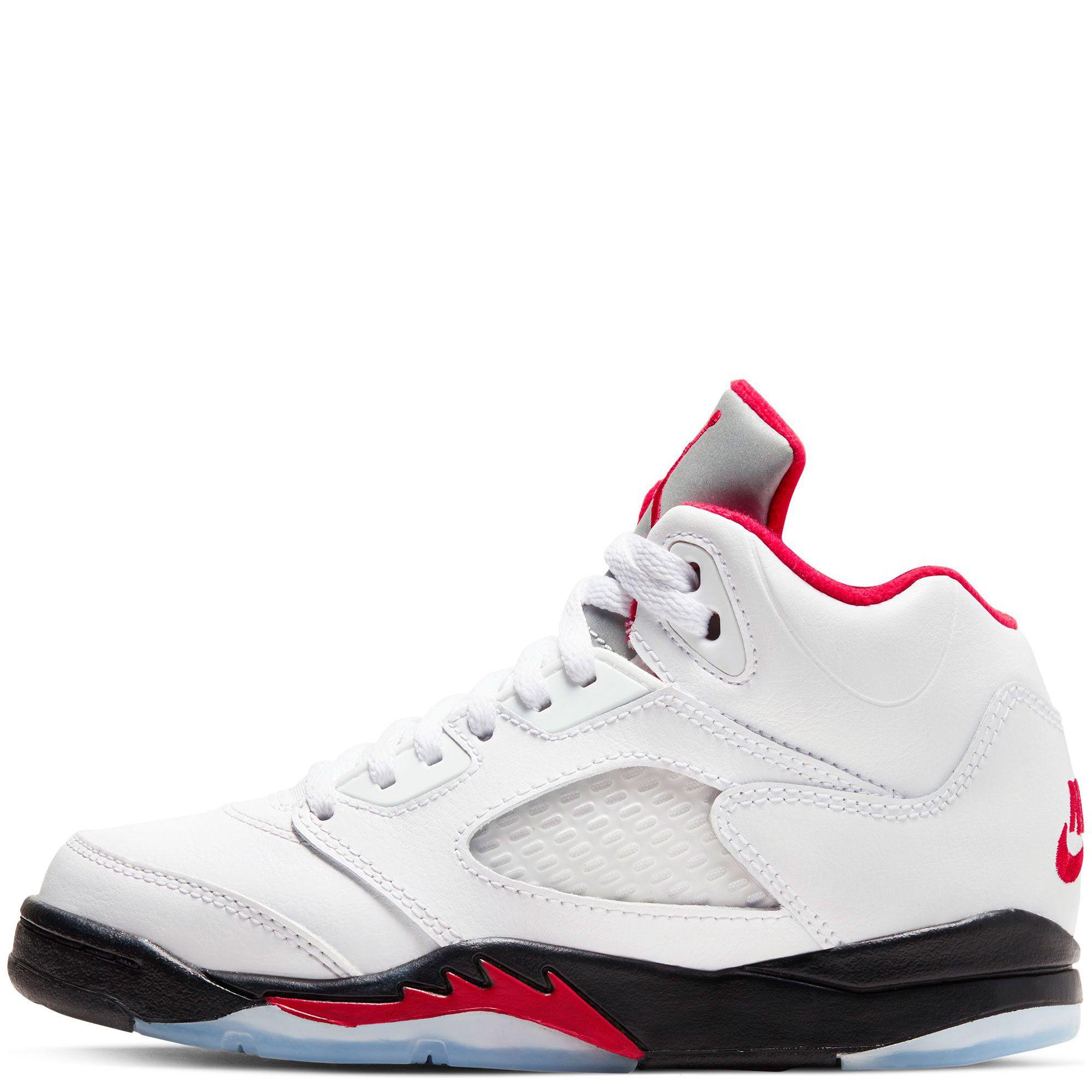 Air Jordan 5 Retro True White/Fire Red