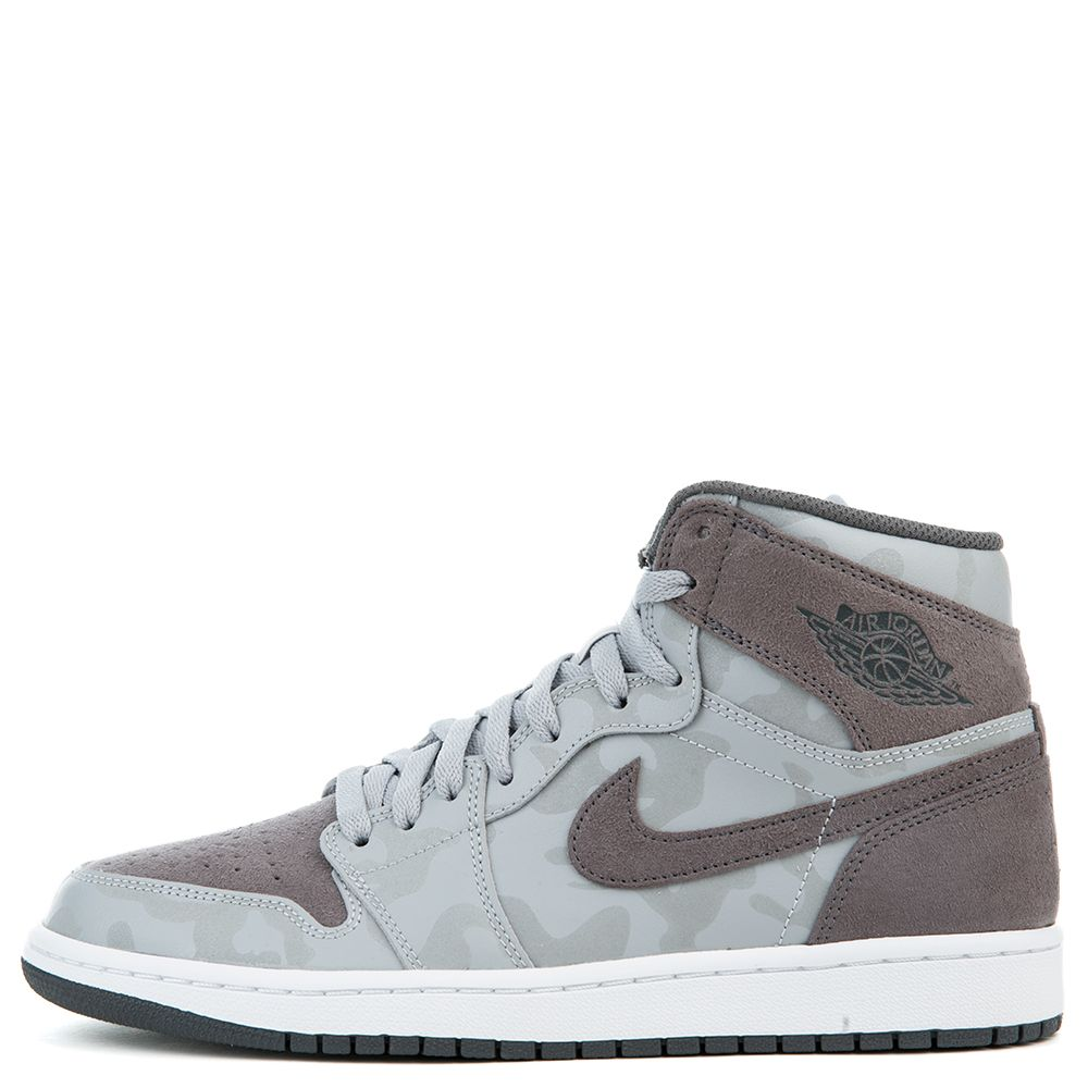 new style a1388 7fbd6 Air Jordan 1 Retro High Premium WOLF GREY/DARK GREY-WHITE-UNIVERSITY RED