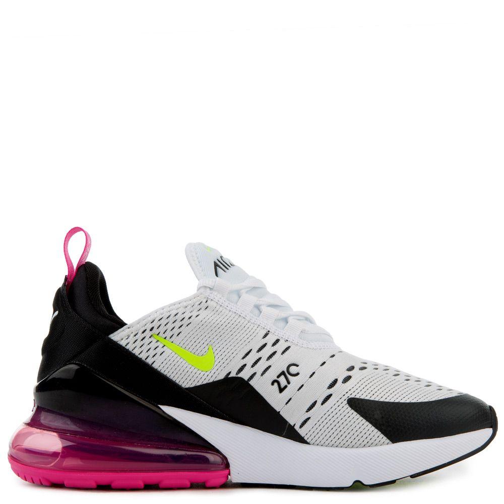 Nike Air Max 270 Gs White Volt Black Laser Fuchsia Kid