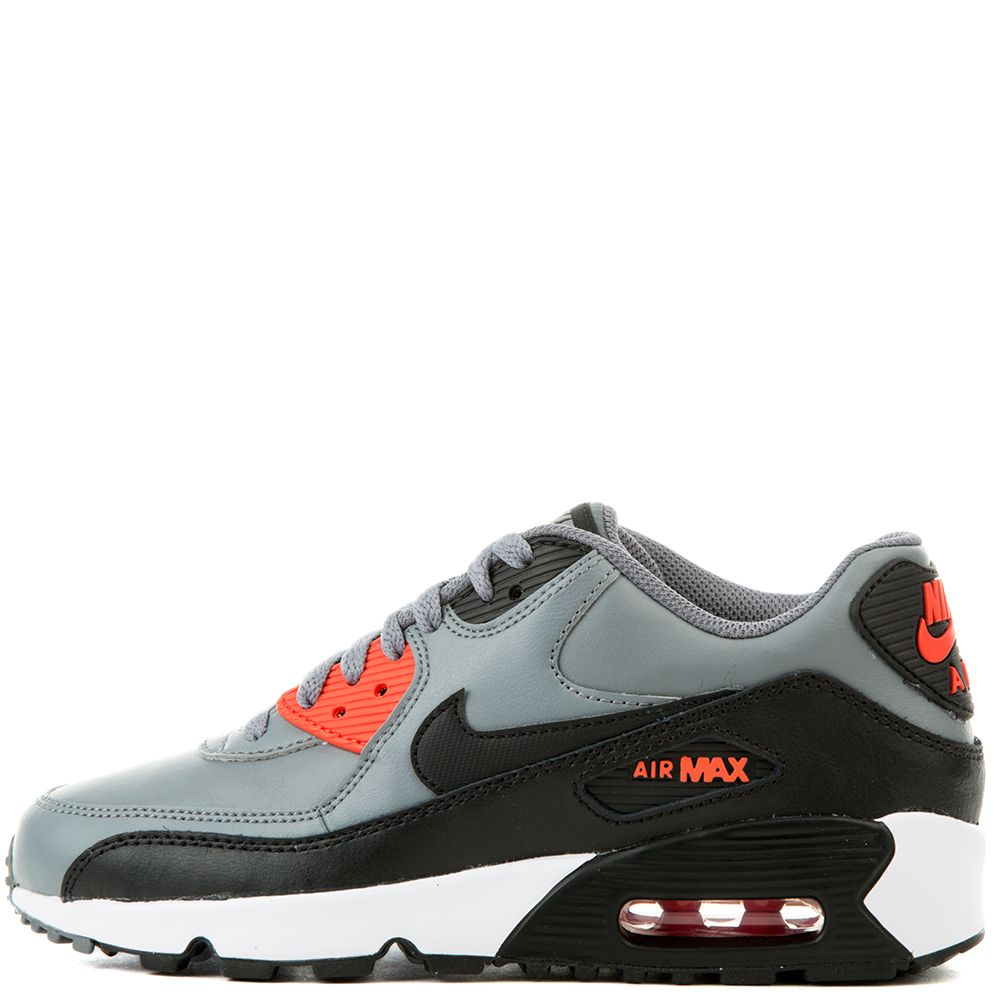 save off 5d9f7 8a63f Air Max 90 Leather ( Grey/Orange/Black/White