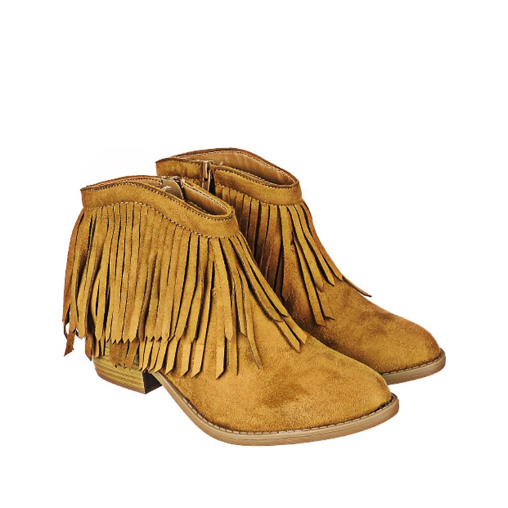 great prices beauty los angeles Women's Jervis Fringe Ankle Boot Tan