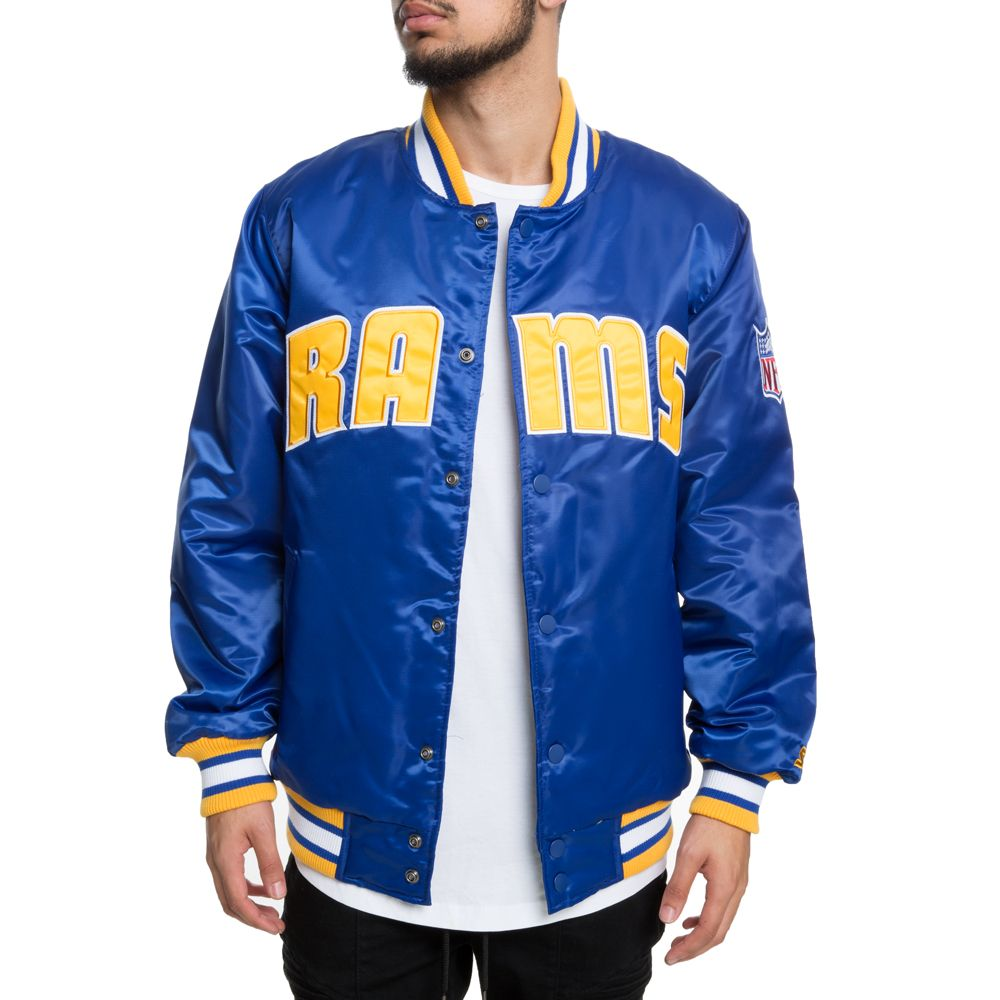 another chance cfb2c 10bbc RAMS JACKET BLUE/WHITE/GOLD