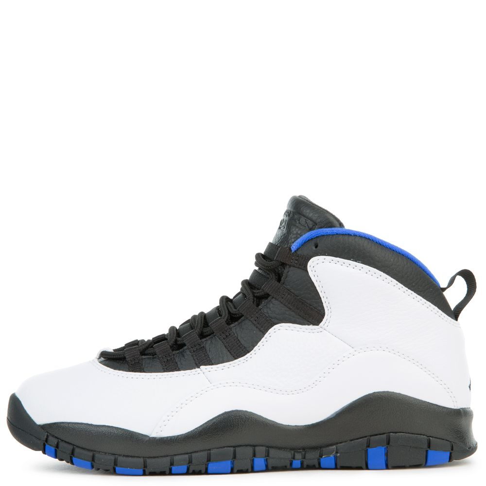 brand new 1cbb5 fb6dc air jordan 10 retro white/black-royal blue-metallic silver
