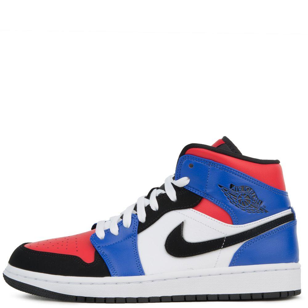 oficjalna strona buty skate ogromny zapas AIR JORDAN 1 MID SE WHITE/BLACK-HYPER ROYAL-UNIVERSITY RED