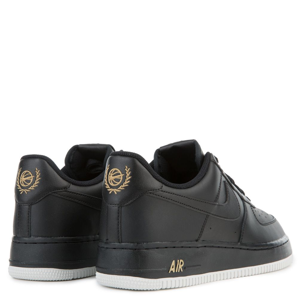 Air Force 1 07 Black Summit White Metallic Gold