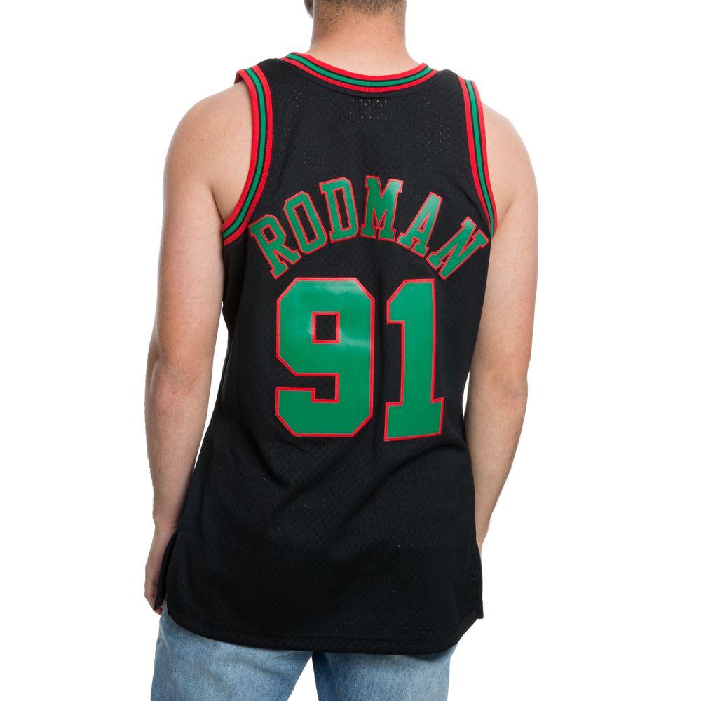 Chicago Bulls Christmas Jersey.Chicago Bulls Christmas Swingman Jersey Dennis Rodman 91