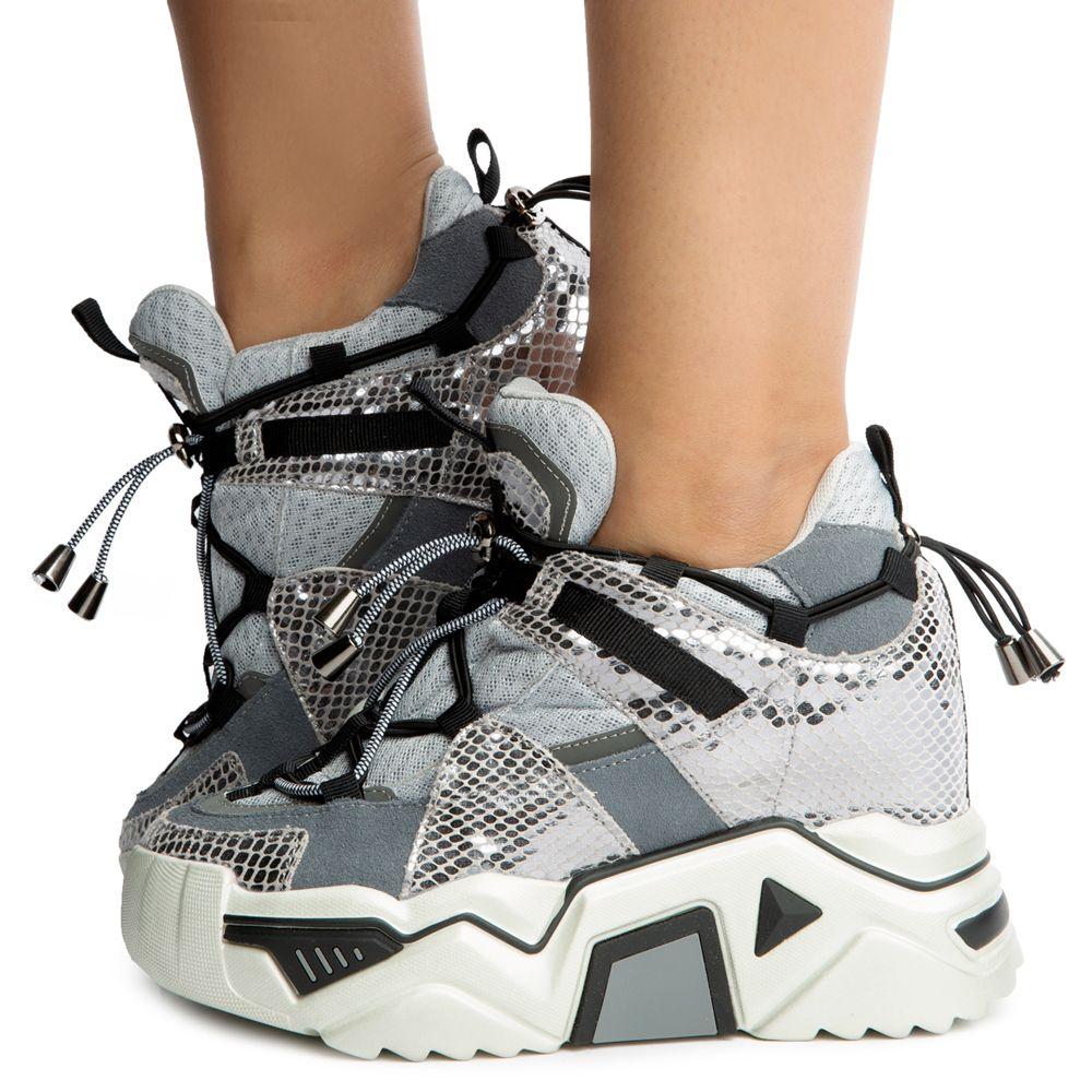Damson-01 Platform Sneakers Silver Metallic