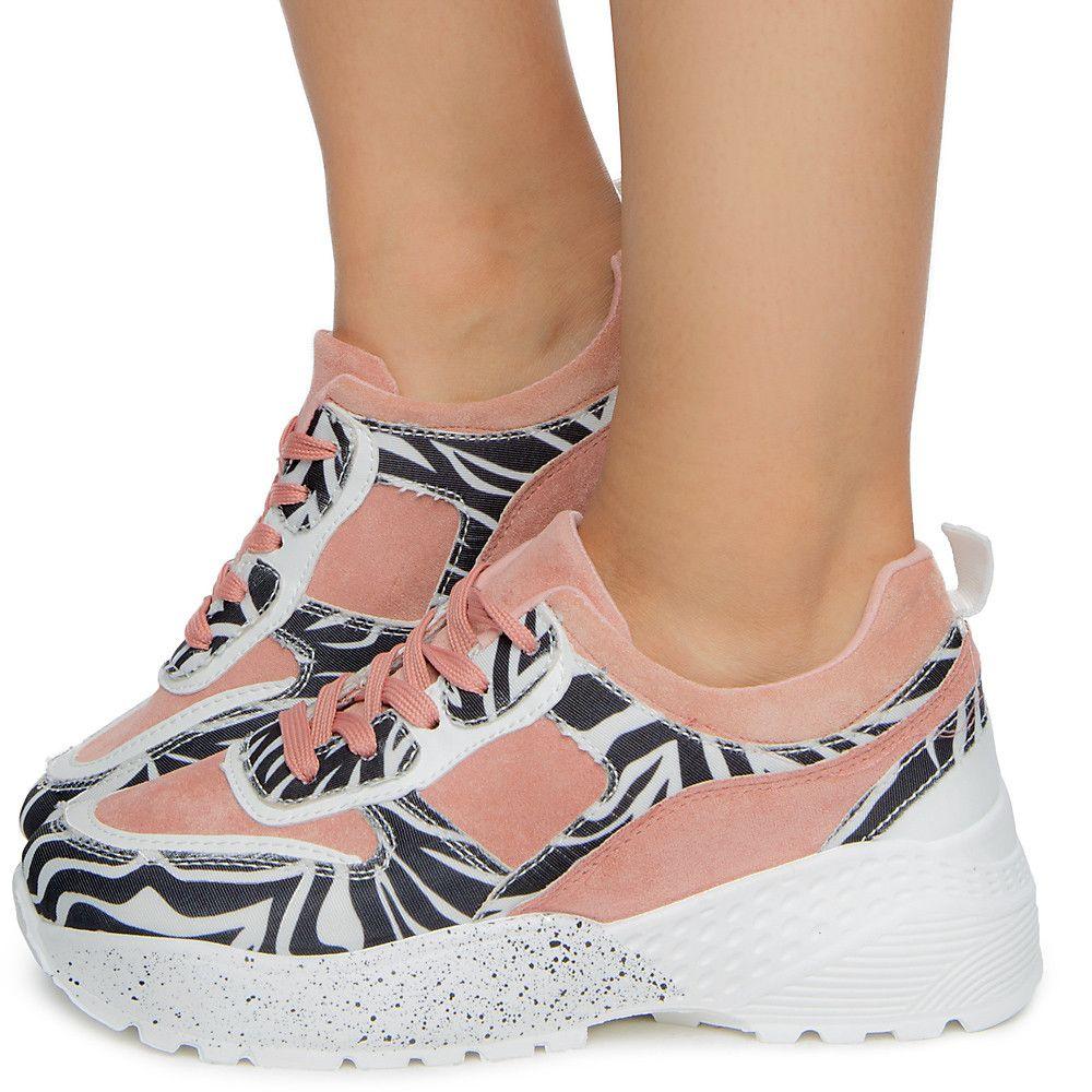 Women's Animal Print Sneaker ZEBRA/MUAVE