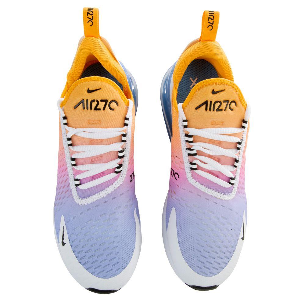 nike women's air max 270 shoes - gold/white/blue