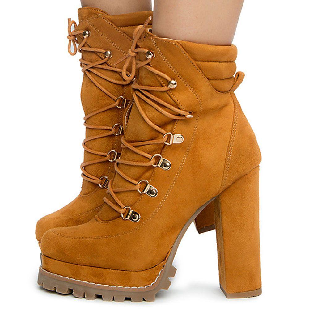 Women's Monclair-4 High Heel Boots Camel