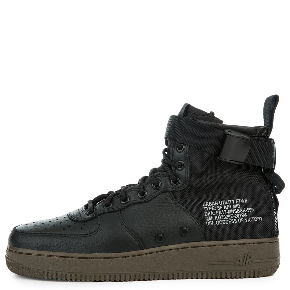 Sf Air Force 1 Mid BLACKBLACK DARK HAZEL