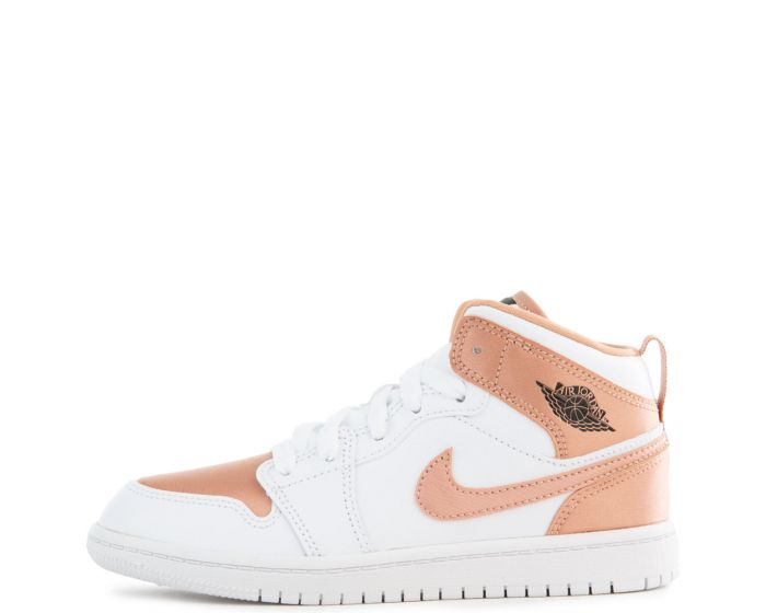 air jordan 1 mid white rose gold