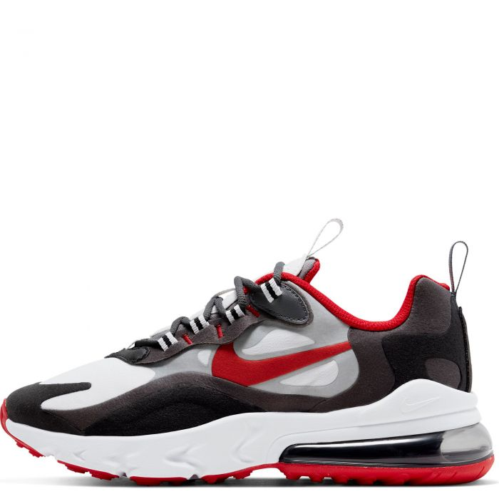 Gs Air Max 270 React Black University Red Iron Grey Vast Grey