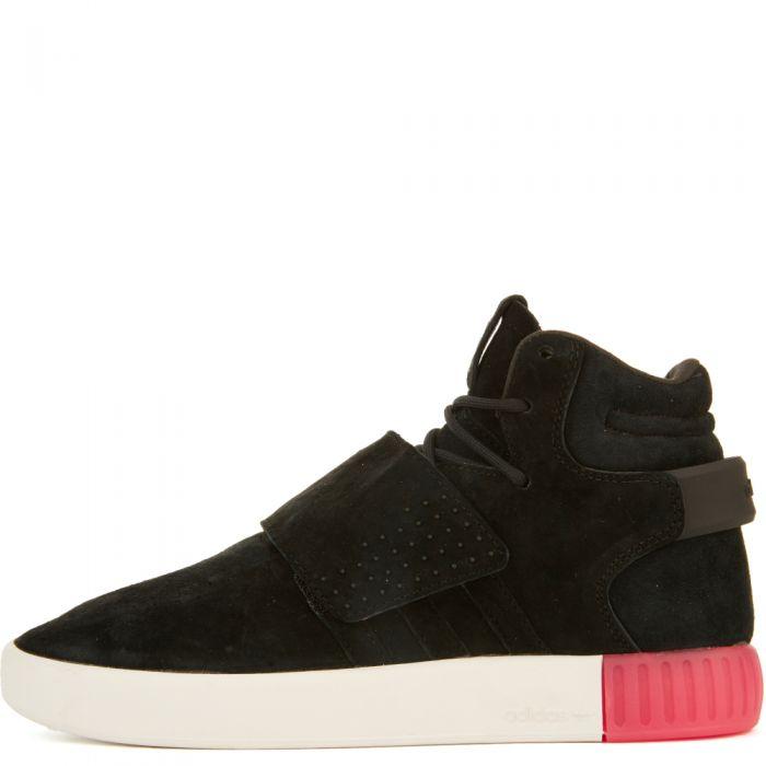 big sale 363e9 a9c70 adidas for Women: Tubular Invader Black/Black Strap Sneakers Black