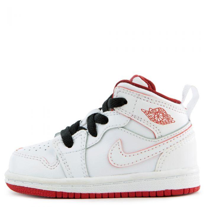promo code ade77 efcef (TD) Air Jordan 1 Mid White/Black/Gym Red