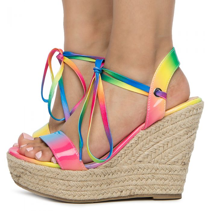 official shop recognized brands save off Women's Espadrille Sandal Rainbow