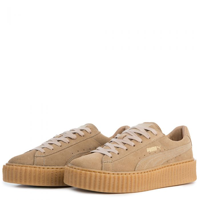sports shoes cc7e0 ff13b Women's Casual Sneaker Rihanna Suede Creepers Oatmeal