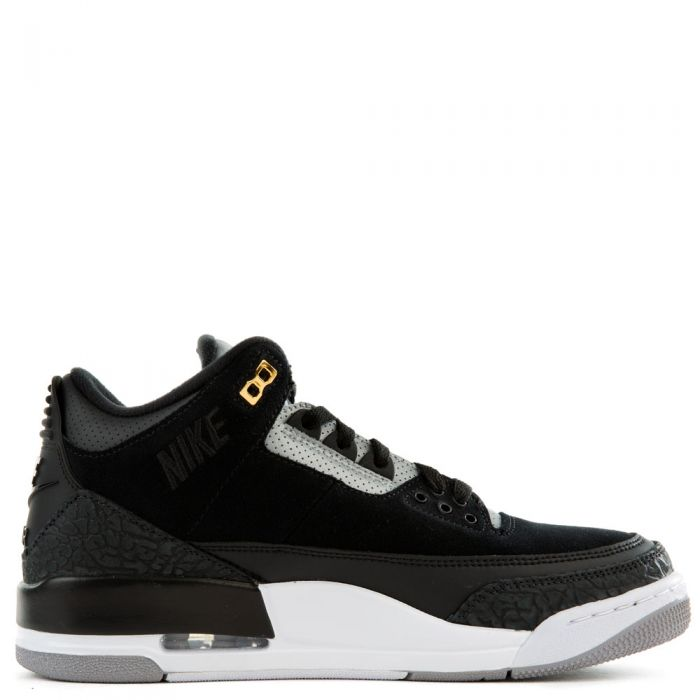 buy online 0b64c 53db5 Air Jordan 3 Tinker Black-Cement Grey-Metallic Gold