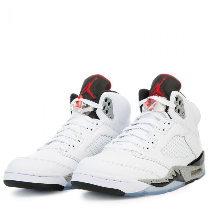 hot sale online a4811 c5d20 Air Jordan 5 White Cement WHITE/UNIVERSITY RED-BLACK-MATTE SILVER