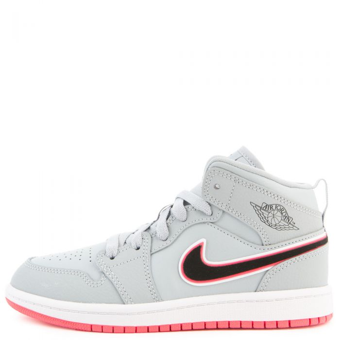 uk availability 851e2 17820 (PS) Air Jordan 1 Mid Wolf Grey/Black-Racer Pink-White
