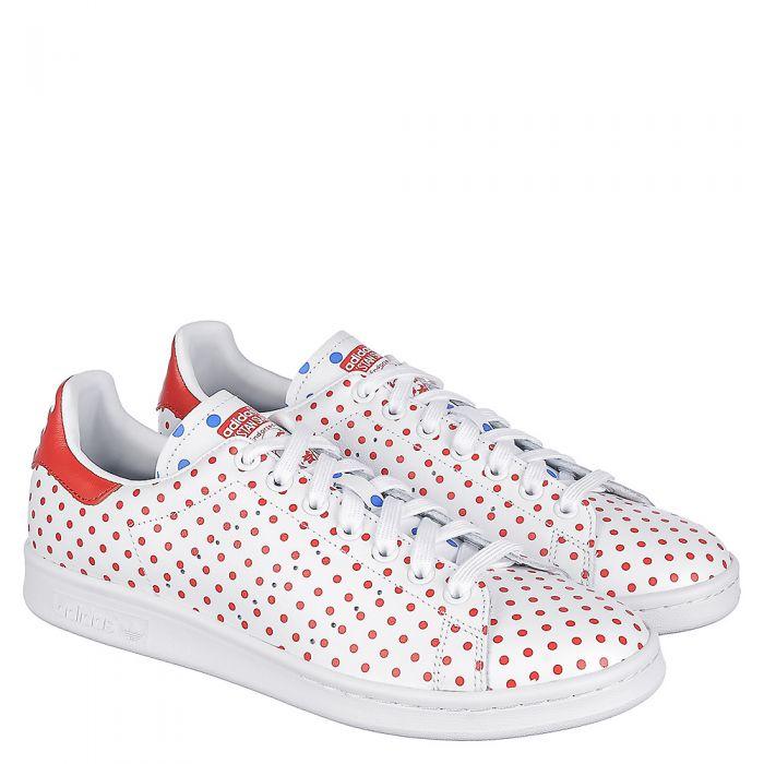quality design 51769 7b0b1 Red / White Men's Pharrell Williams Stan Smith SPD Casual Sneaker
