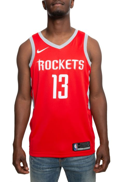 low priced d6dff 1a299 HOUSTON ROCKETS JAMES HARDEN ICON EDITION SWINGMAN JERSEY UNIVERSITY  RED/FLT SILVER