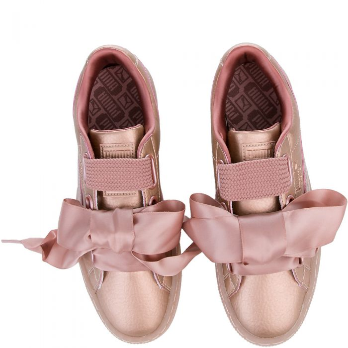 Puma basket heart copper rose sneakers wms 8
