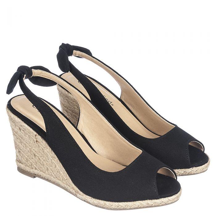 Womens Otina-S Woven Wedge Dress Shoe Black