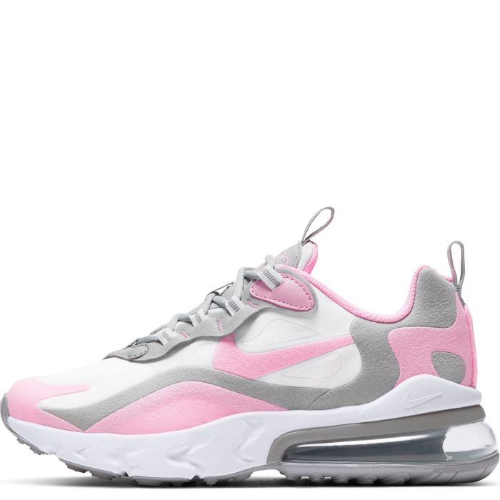 Gs Air Max 270 React White Pink Lt Smoke Grey Metallic Silver