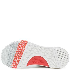 48433221e ... The Women s NMD Racer Primeknit in White and Trace Scarlet White Scarlet