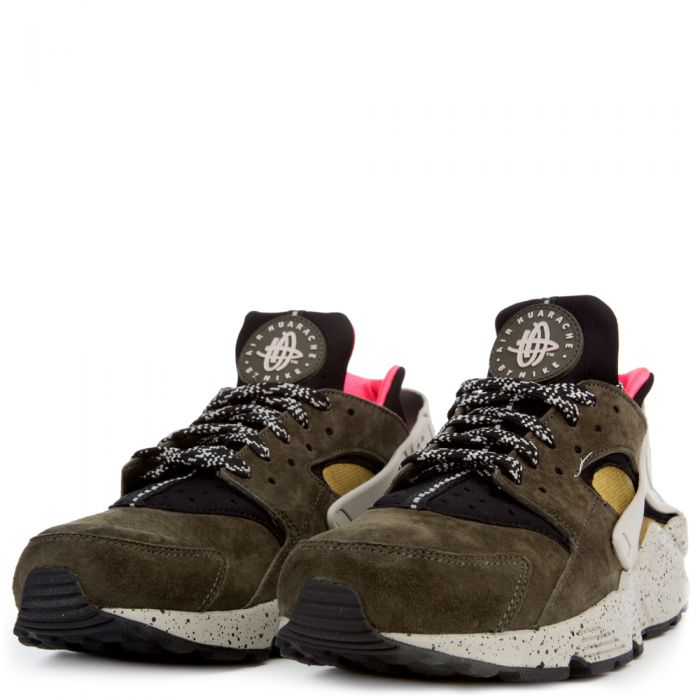 Air Huarache Run BLACK/DESERT MOSS-SOLAR RED-PALE GREY