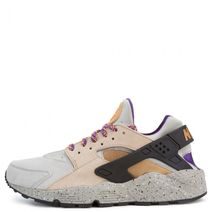 on sale 1077a 0969a Air Huarache Run LINEN/GOLDEN BEIGE-BLACK-COURT PURPLE