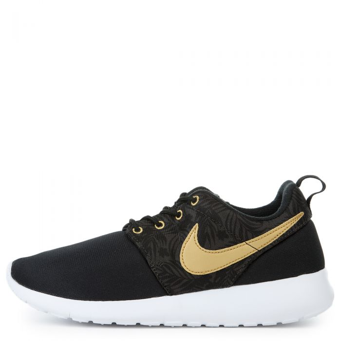 the latest 7a1aa c8d6f GRADE SCHOOL NIKE ROSHE ONE BLACK/MTLLC GOLD-BLK-DP PWTR
