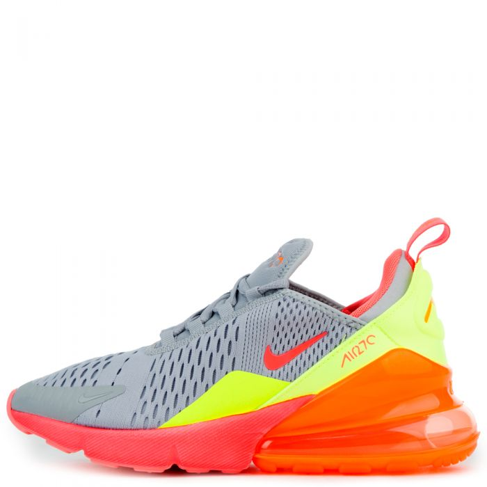 NIKE AIR MAX 270 (GS) WOLF GREYHOT PUNCH TOTAL ORANGE