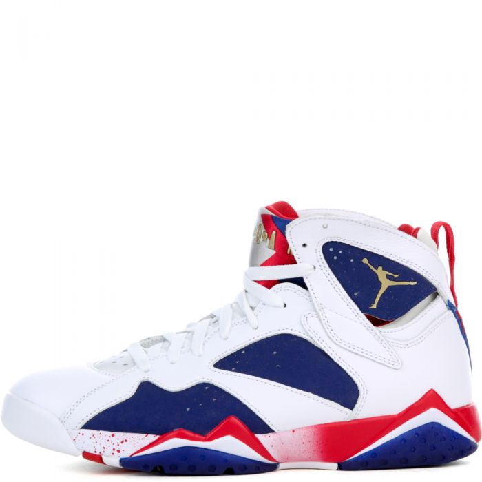 promo code 8017a f6ab5 AIR JORDAN VII RETRO WHITE/DEEP ROYAL BLUE/FIRE RED/MTLC GOLD COIN