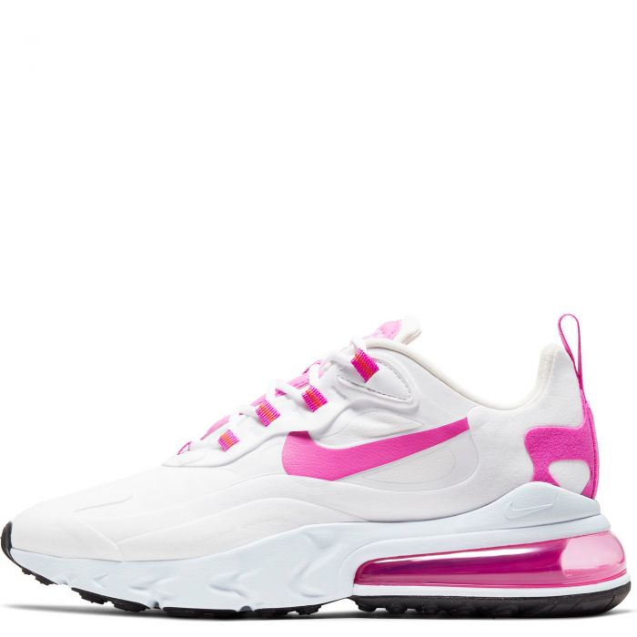 Women S Air Max 270 React White Fire Pink Team Orange Black