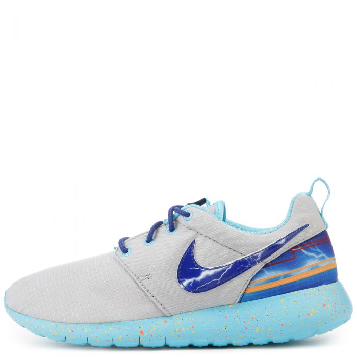 meet aef74 2d822 GRADE SCHOOL NIKE ROSHE ONE PRINT WOLF GREY/UNIVERSITY GOLD/ELECTRO