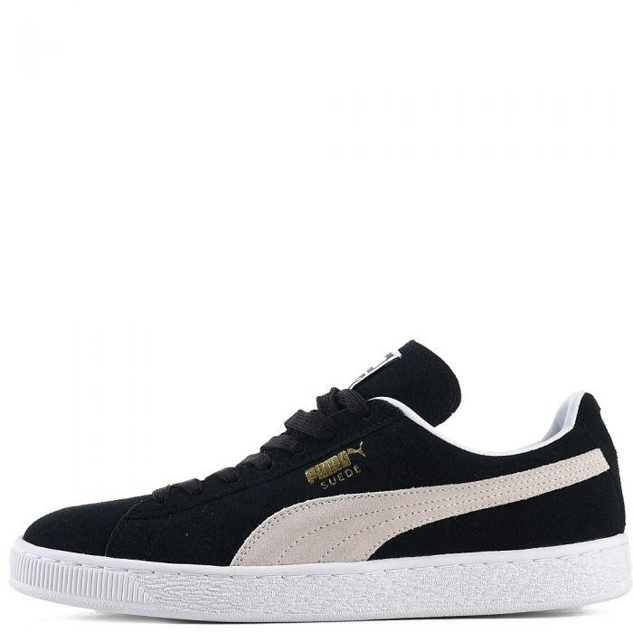 huge discount e6126 40dd3 Men's Suede Classic Casual Sneaker Black/Beige