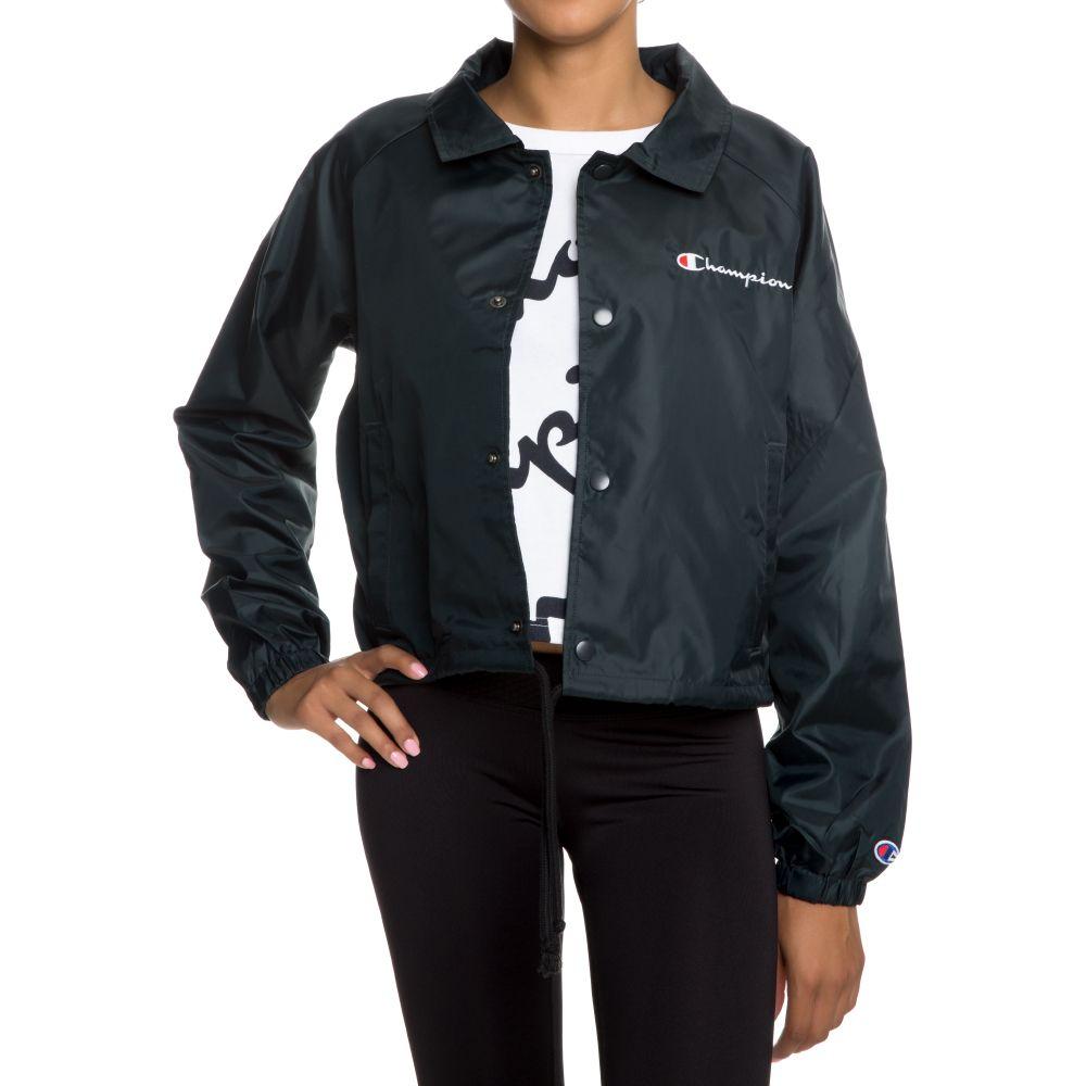 Women S Champion Cropped Coaches Jacket Black
