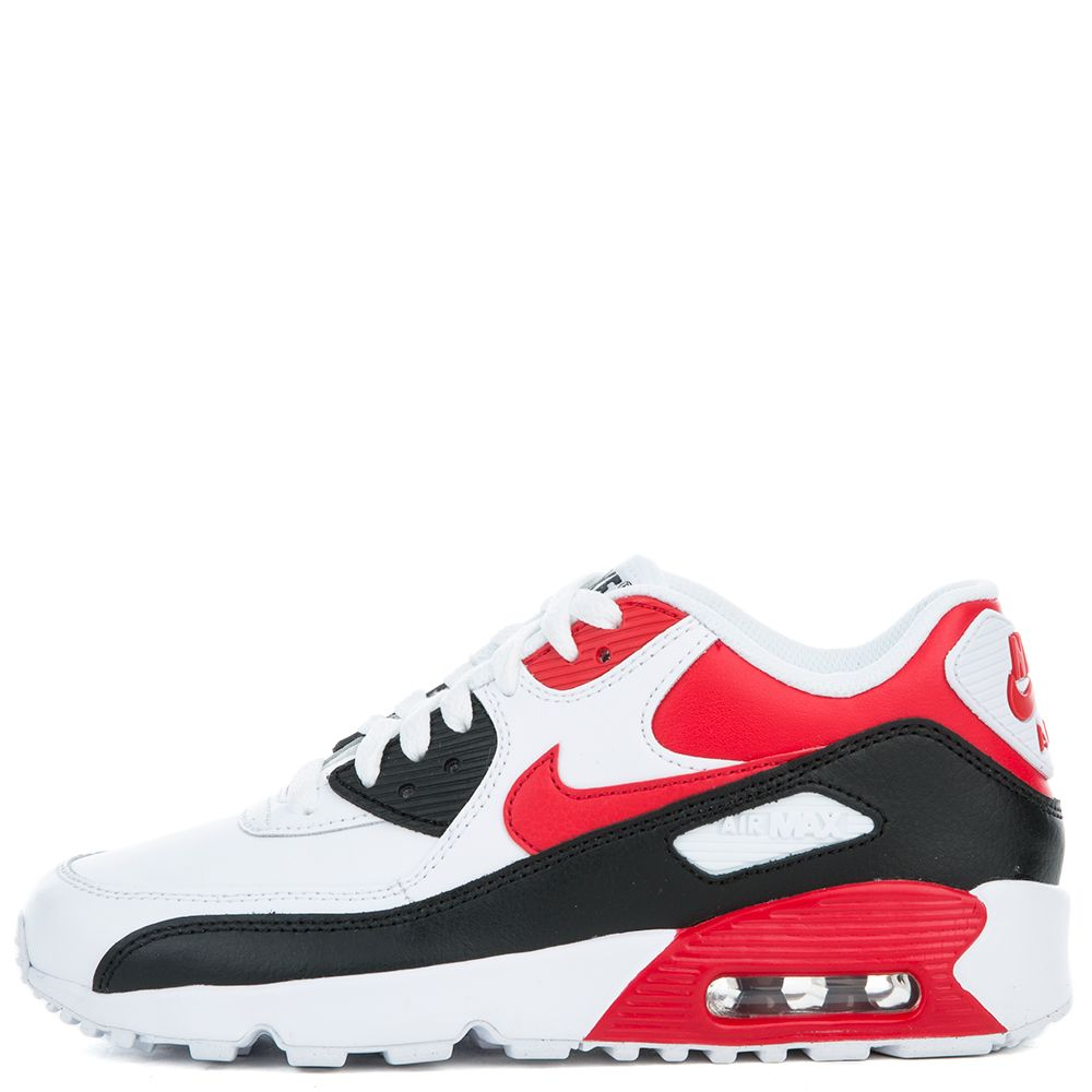Nike NIKE AIR MAX 90 MESH (GS) White Unvrsty Red Wlf Gry Blk