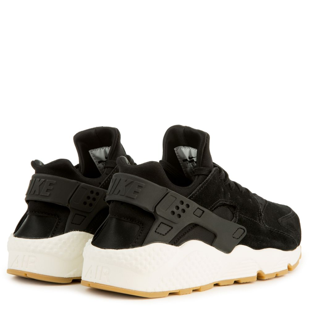 Nike SportswearAIR HUARACHE RUN SD - Trainers - black/deep green/sail/light brown If5KnX