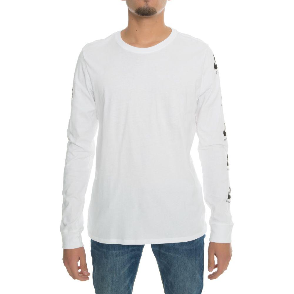 Black t shirt with print - Nike International T Shirt With Arm Print White Black