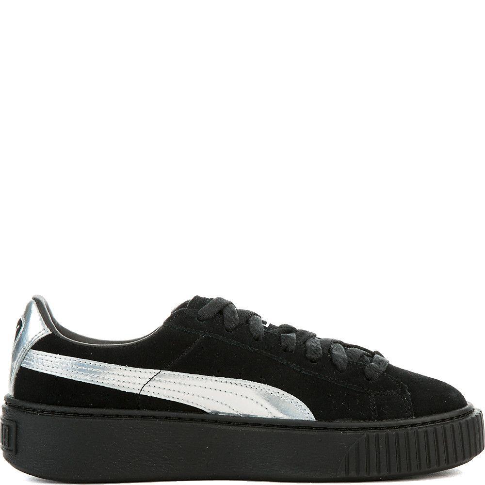 Women's Suede Platform Sneaker puma black/puma black