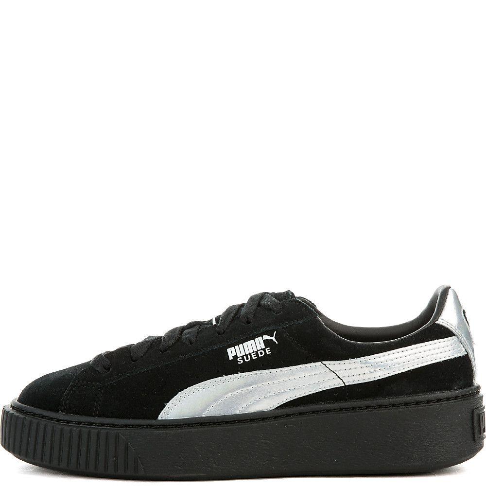 Womens Suede Platform Sneaker puma black puma black